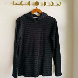 Quiksilver // NWT Striped Thermal Pullover Hoodie